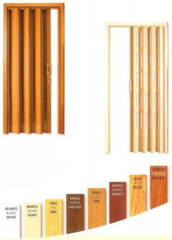 puertas corredizas de madera plegables