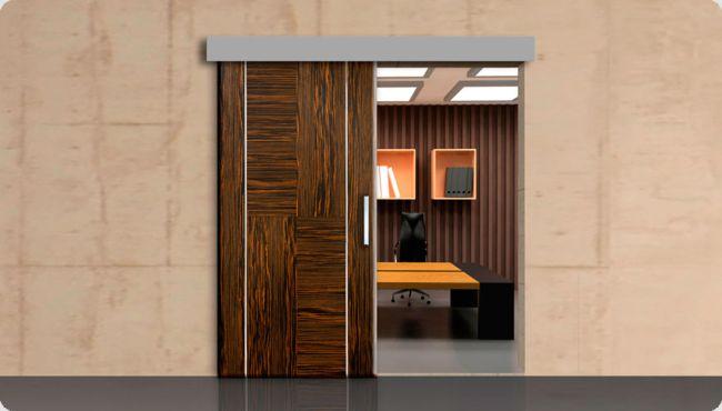 puertas corredizas de madera y vidrio