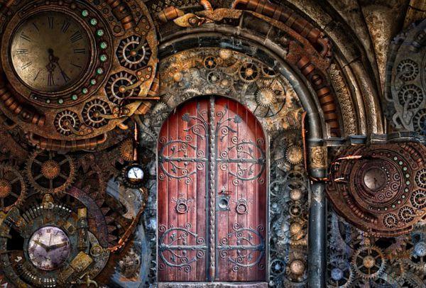 puertas antiguas con cristales