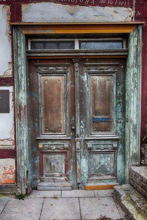 puertas de madera y cristal antiguas