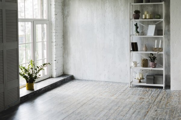ventanas de madera grises