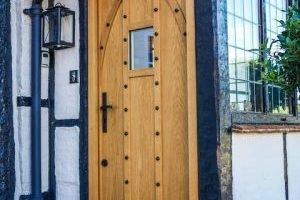 puertas de madera roble