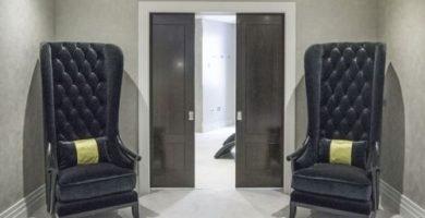 puertas correderas negras
