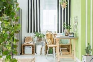 Diseño de la cortina a rayas